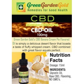 GREEN GARDEN GOLD BANANA CREAM PIE CBD-OIL