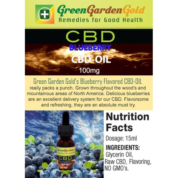 Green Garden Gold Blueberry Cbd Oil